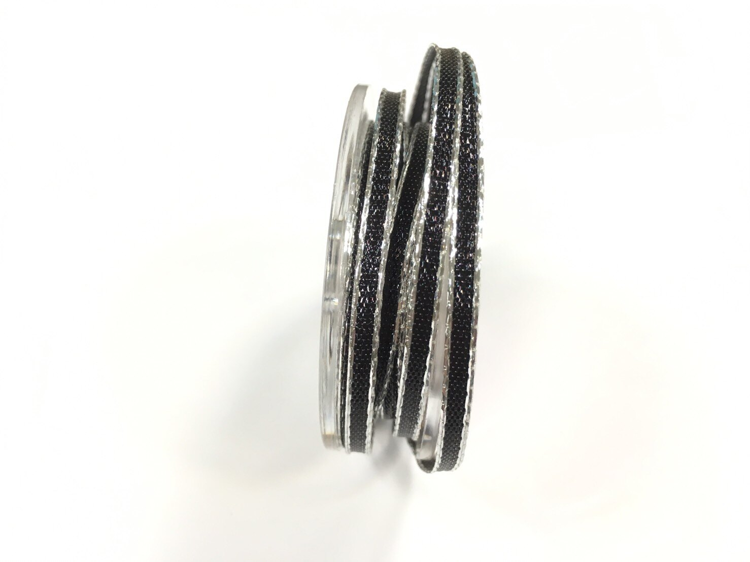 【Crystal Rose緞帶專賣店】 金屬彩邊鐵絲緞帶 3mm 3碼 (4色) 0