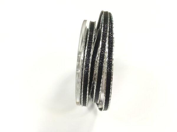 【Crystal Rose緞帶專賣店】 金屬彩邊鐵絲緞帶 3mm 3碼 (4色)
