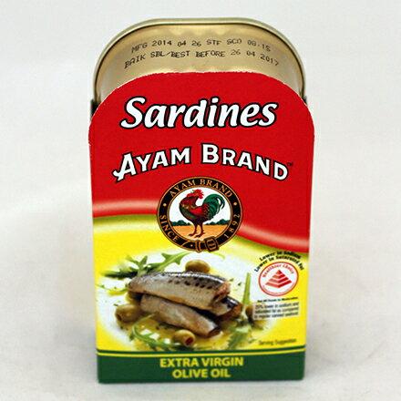【敵富朗超巿】雄雞標特級初榨橄欖油沙丁魚120g