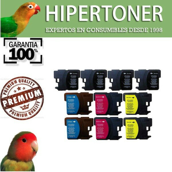 BROTHER LC985 pack 10 tintas compatibles Brother LC985 (Bk-c-m-y) 0