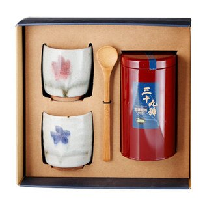 《好客-39號北埔擂茶》精品禮盒組 一罐裝(300克擂茶粉)+2陶杯(免運商品)