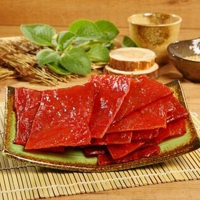 《台灣客家-霽月肉鬆》A023010 蜜汁肉乾(300g/包),共兩包
