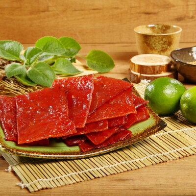 《台灣客家-霽月肉鬆》A023012 泰式檸檬肉乾(300g/包),共兩包