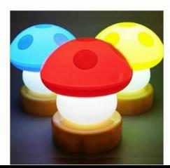 創意浪漫小蘑菇燈 小夜燈床頭燈 應急燈 拍拍燈