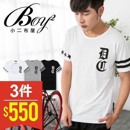 ☆BOY-2☆【PPK82073】短袖T恤韓風街頭印花條紋DC短T 0