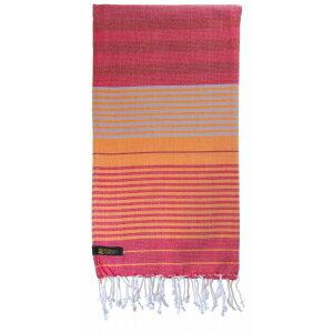 『法國原裝』獨家代理 - 100% Coton Organic  有機綿 (超吸水)歐洲經典 橘色條紋大浴巾 Foutas  5
