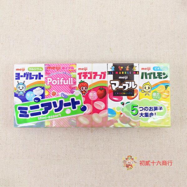 【0216零食會社】日本明治-綜合5種口味乳酸糖63g