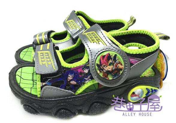 【巷子屋】遊戲王 男童電燈運動休閒涼鞋 [44605] 灰綠 MIT台灣製造 超值價$198