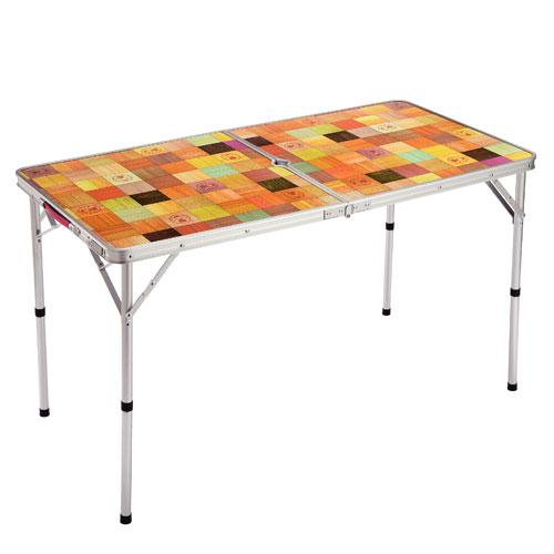 【露營趣】中和 附鋁合金手電筒 Coleman CM-26751 自然風摺桌/120 休閒桌 露營桌 摺疊桌 野餐桌