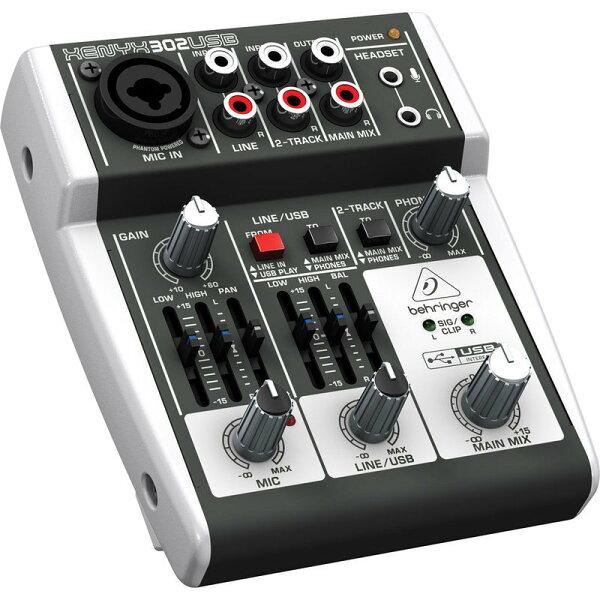 全新德國BEHRINGER耳朵牌 XENYX 302USB 302 USB 混音器 USB介面