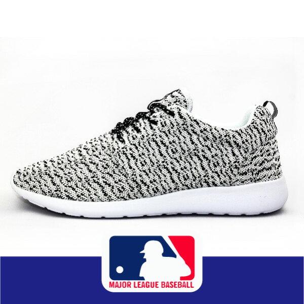 萬特戶外運動 MLB大聯盟 5631103-830 男休閒運動鞋 YEEZY BOOST 350 藤原浩 輕便 透氣 白灰色