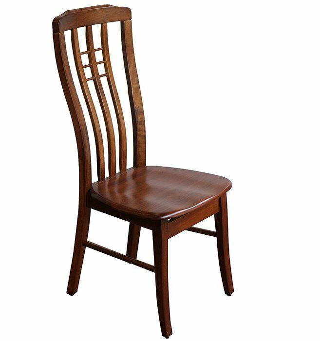 ~尚品傢俱~~特別  為止~ K~631~02 歐因哥 全實木柚木色高背餐椅 飯店椅 食堂