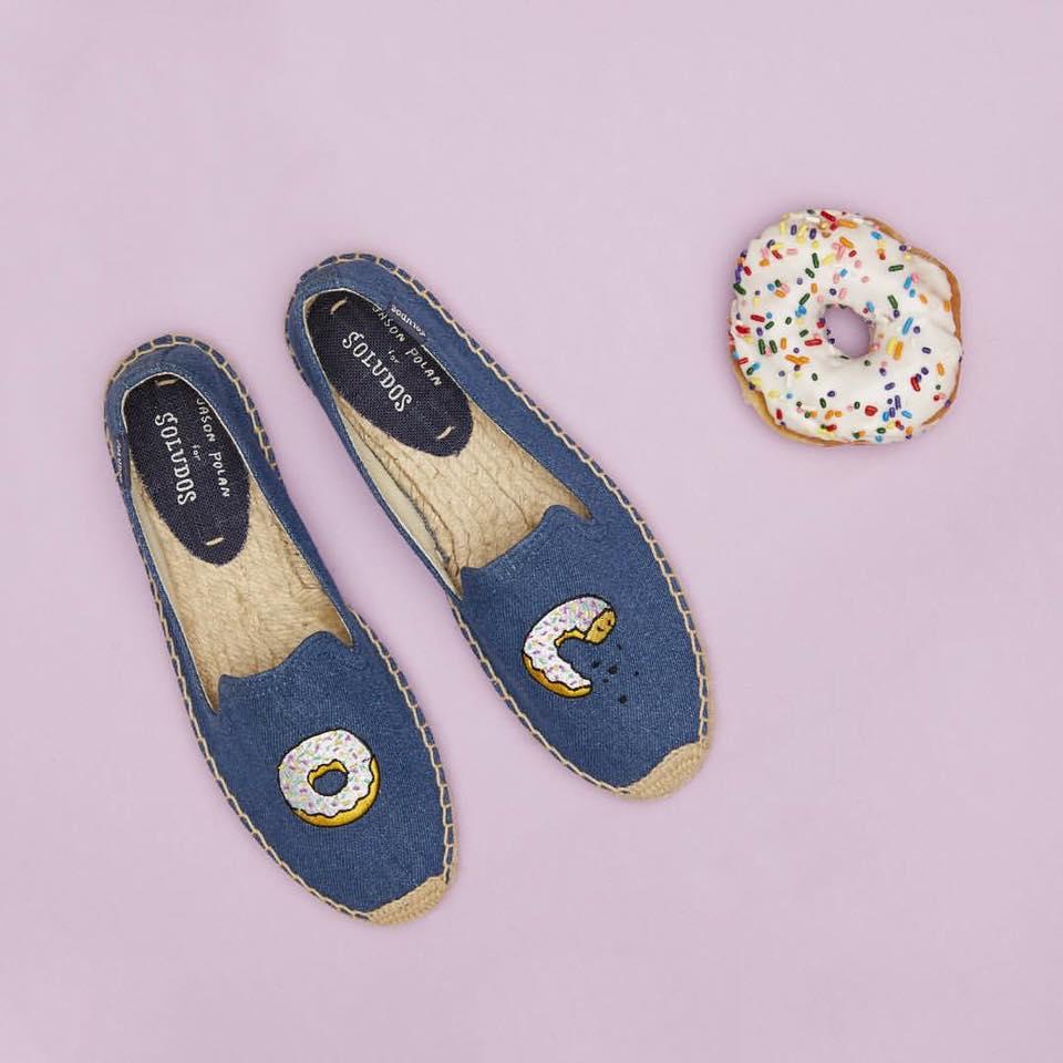 【Soludos】美國經典草編鞋-塗鴉系列草編鞋-甜甜圈 0