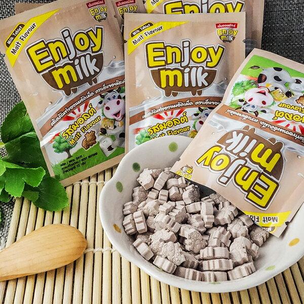泰國零食 Enjoy milk營養牛奶片(巧克力麥芽) 0