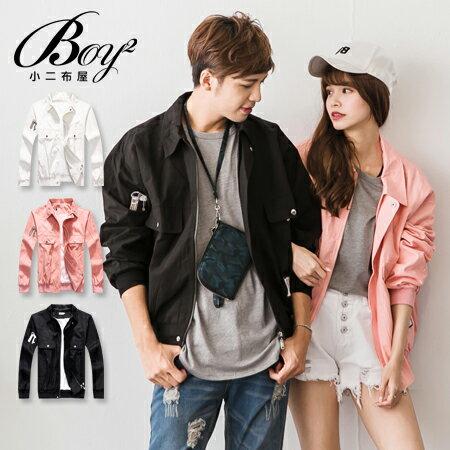 ☆BOY-2☆【NQ98043】情侶外套 美式潮流布章夾克外套 1