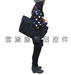 ~雪黛屋~BIYAT 托特包購物大容量多外袋口MIT製造品保證可手提可肩背斜側背超輕防水尼龍布可放A4資料夾#6518