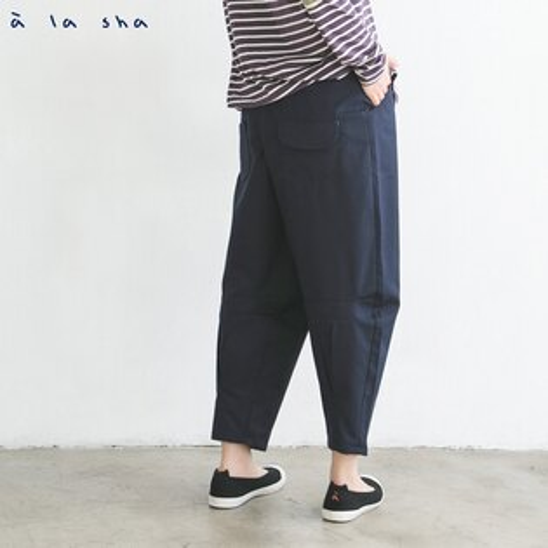 a la sha mucha 打摺造型低檔褲