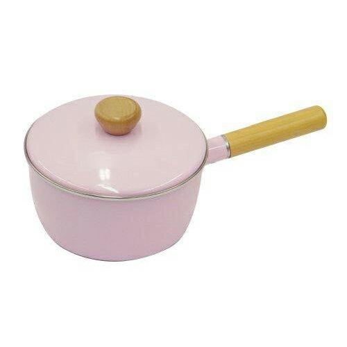 鹿牌 CAPTAIN STAG  日本   PEARL琺瑯牛奶鍋18cm(粉紅)   秀山莊(H-7693)