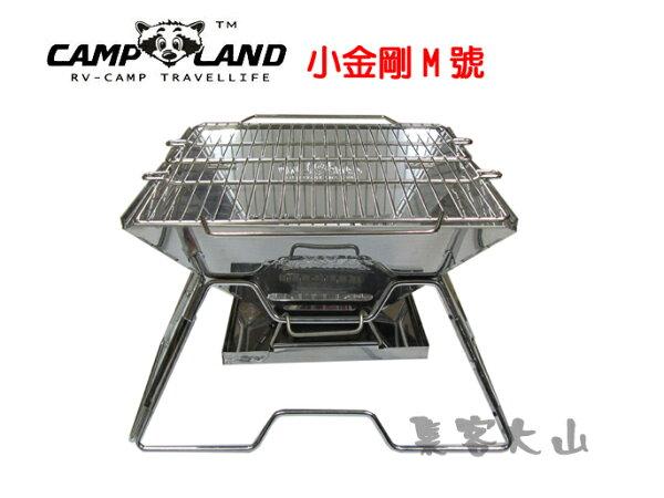 【露營趣】中和 CAMPLAND RV-ST210-AX M號小金鋼1mm極厚款焚火台 烤肉架 荷蘭鍋架 非SnowPeak
