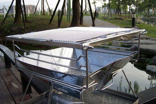【露營趣】CAMP LAND RV-ST220CT 日本焚火台專用承重烤網支架組 烤肉架 烤肉網(RV-ST220A/B 專用304#不鏽鋼)