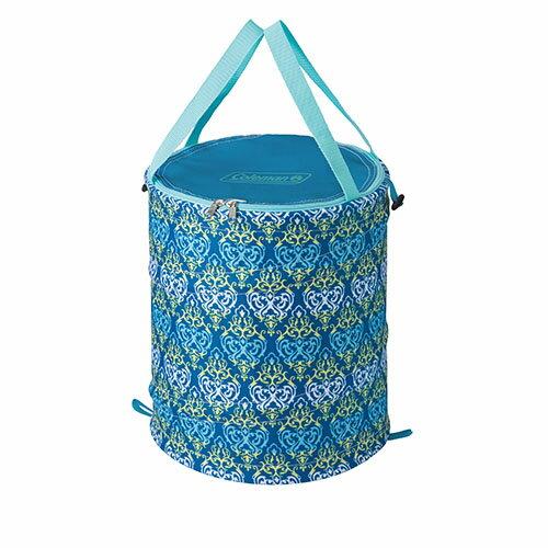 【露營趣】中和 美國 Coleman CM-21913 藍葉圖騰萬用魔術桶 裝備袋 RV桶 雜物袋 垃圾桶
