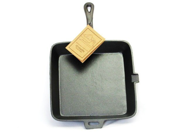 【露營趣】中和 美國 Old Mountain SQ方形鑄鐵長柄煎鍋 10.5吋 平底鍋 煎鍋 烤盤 鑄鐵鍋 10107