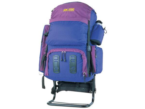 【露營趣】中和 送手電筒D型扣環 犀牛 RHINO 659 59公升中程外架背包 鋁架 登山背包 背架