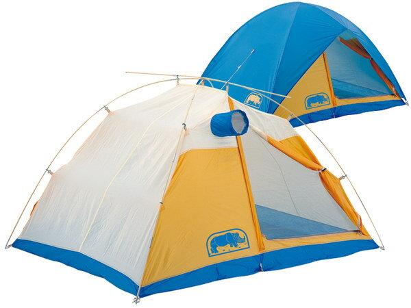 【露營趣】中和 送鋁箔墊手電筒 台製 犀牛 RHINO A-110 二人掛鉤高防水雪地帳 2人帳篷 雙人帳 二人帳 登山露營帳篷