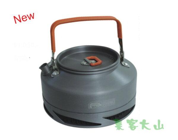 【露營趣】中和 附D型扣 犀牛 RHINO K-25 0.8公升 超輕鋁合金聚熱強效茶壼 咖啡壺 燒水壺 燒水 煮茶