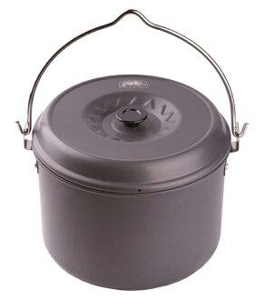 【露營趣】中和 附D型扣 犀牛 RHINO K-36 5公升吊鍋 鋁合金鍋 湯鍋 可搭配K-37三角吊鍋架