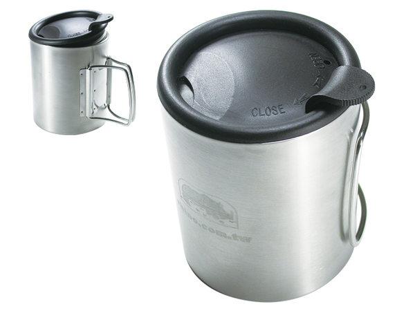 【露營趣】中和 犀牛 RHINO KS-21 雙層不銹鋼斷熱杯 保溫杯 鋼杯 斷熱杯 隔熱杯