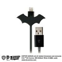 蝙蝠俠與超人周邊商品推薦【COI+xDC正義聯盟】APPLE官方認證Lightning充電傳輸線(蝙蝠俠)-1.2M