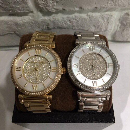 美國Outlet正品代購 MichaelKors MK 復古羅馬滿天星貝殼面鑲鑽金色    手錶 腕錶 MK3332 7