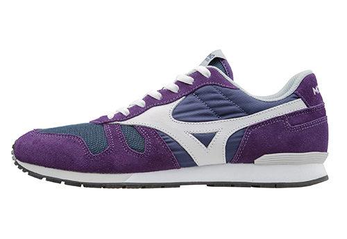 MIZUNO美津濃 復古系列 女休閒款慢跑鞋 紫白 1