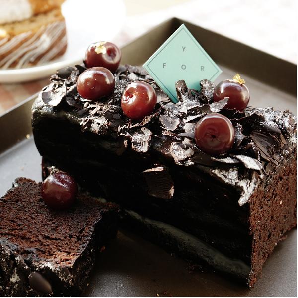 慢爐 酒漬櫻桃巧克力蛋糕/法國進口頂級70%巧克力