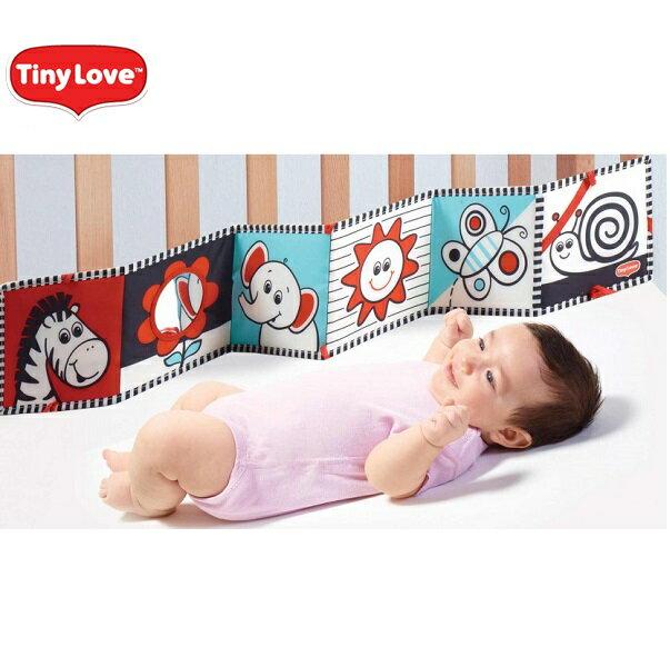 【安琪兒】美國【Tiny Love】寶寶雙面布書 0