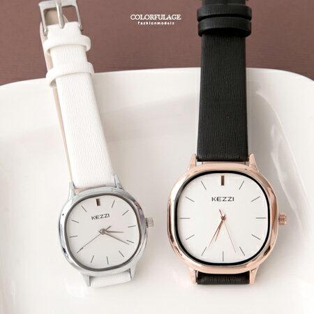 手錶 簡約素雅方形設計刻度皮革腕錶 現代都會時尚款 可搭配成對錶 柒彩年代【NE1858】單支售價 - 限時優惠好康折扣