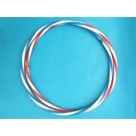 呼拉圈 一般雙色呼啦圈(8號.紅白色) 直徑61cm~台灣製造/一個入{促49}