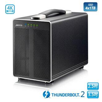 極速4TB SSD~ AKiTiO 雷霆戰艦 3.5吋/2.5吋 Thunderbolt2 4bay 外接盒(1TB SSD x 4) - 訂單確認後兩週交貨
