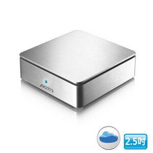 AKiTiO 迷你私有雲 MyCloud mini 1Bay NAS 雲端網路儲存伺服器 ( 銀色 )