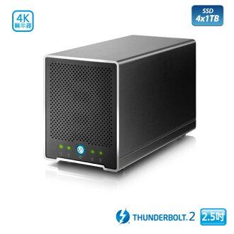 極速4TB SSD~ AKiTiO 迷你雷霆戰艦 (4TB SSD) 2.5吋 Thunderbolt2 4bay 外接盒- 訂單確認後兩週交貨