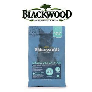 【恰恰】柏萊富blackwood 特調無穀全齡貓糧 (鴨肉+鮭魚+豌豆)1磅 - 限時優惠好康折扣