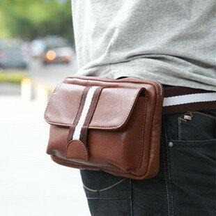 【瞎買天堂+質感小包】休閒運動風隨身小包 腰包 PU皮 可放零錢 手機 悠遊卡 信用卡【BGAA0401】 0