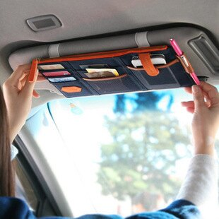 【瞎買天堂x買一送一】汽車多功能遮陽版收納包 收納袋 可放手機 信用卡 發票等【HLCRAA01】 0