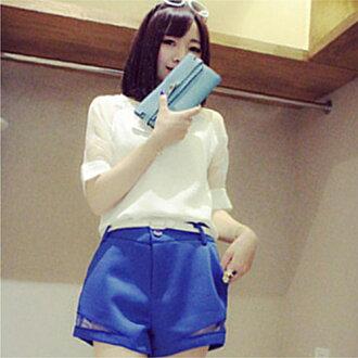 *ORead* 高腰裙褲寬鬆A字寬鬆短褲(3色S~3XL)
