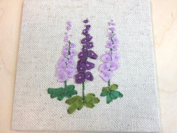 DIY手作-緞帶刺繡材料包(薰衣草)