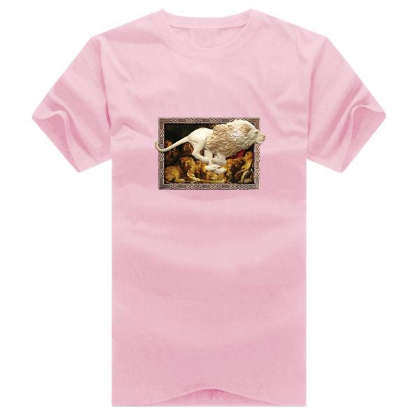◆快速出貨◆T恤.情侶裝.班服.MIT台灣製.獨家配對情侶裝.客製化.純棉短T.相框上奔跑獅子【YC364】可單買.艾咪E舖 4