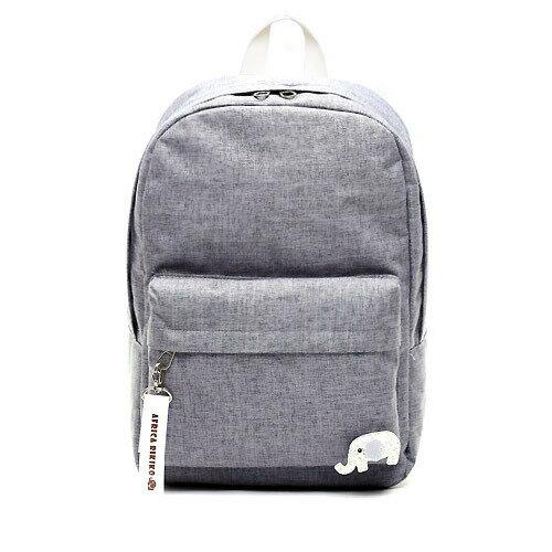 後背包 韓國RIKIKO 大象後背包 電腦背包 NO.123 연회색(L.gray) - 包包阿者西