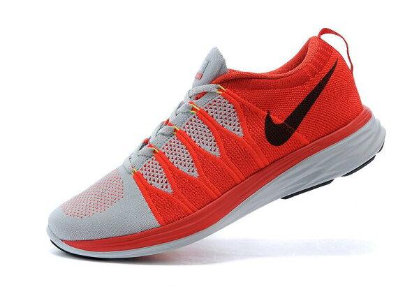 Nike Flyknit Lunar2 運動鞋 休閒鞋 登月6編織飛線慢跑鞋 男鞋網鞋 白红黑