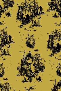 Timorous Beasties / Decouper 3 Hand-Print / TB/DTOIL3/4000/01 壁紙 (訂貨單位52cm×10m/卷)